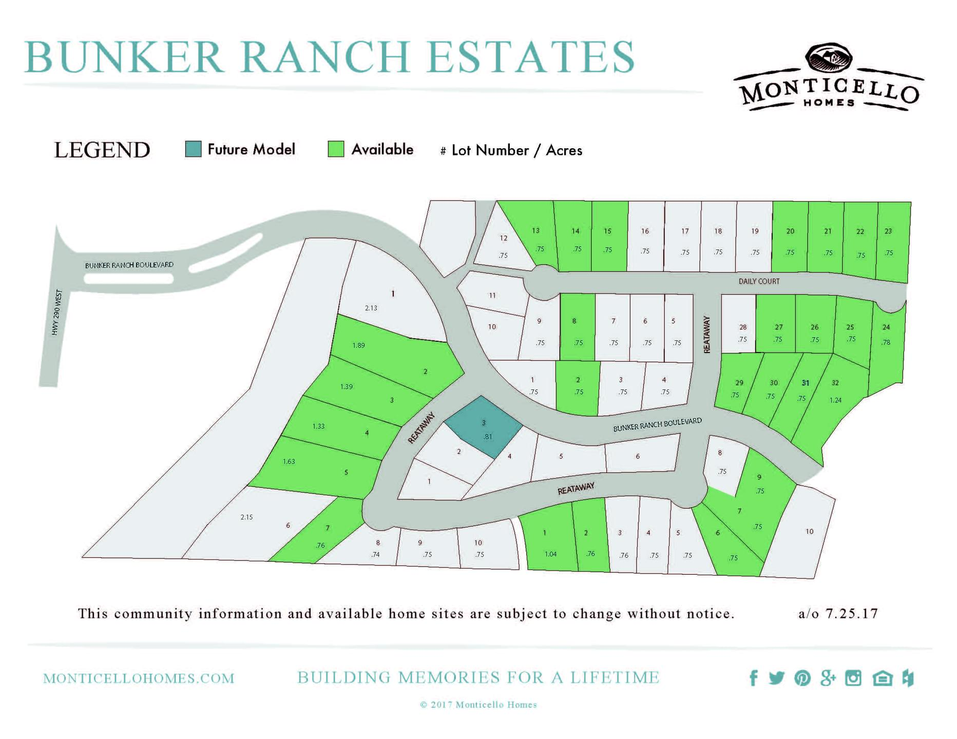 Dripping Springs New Home Community Plat Map