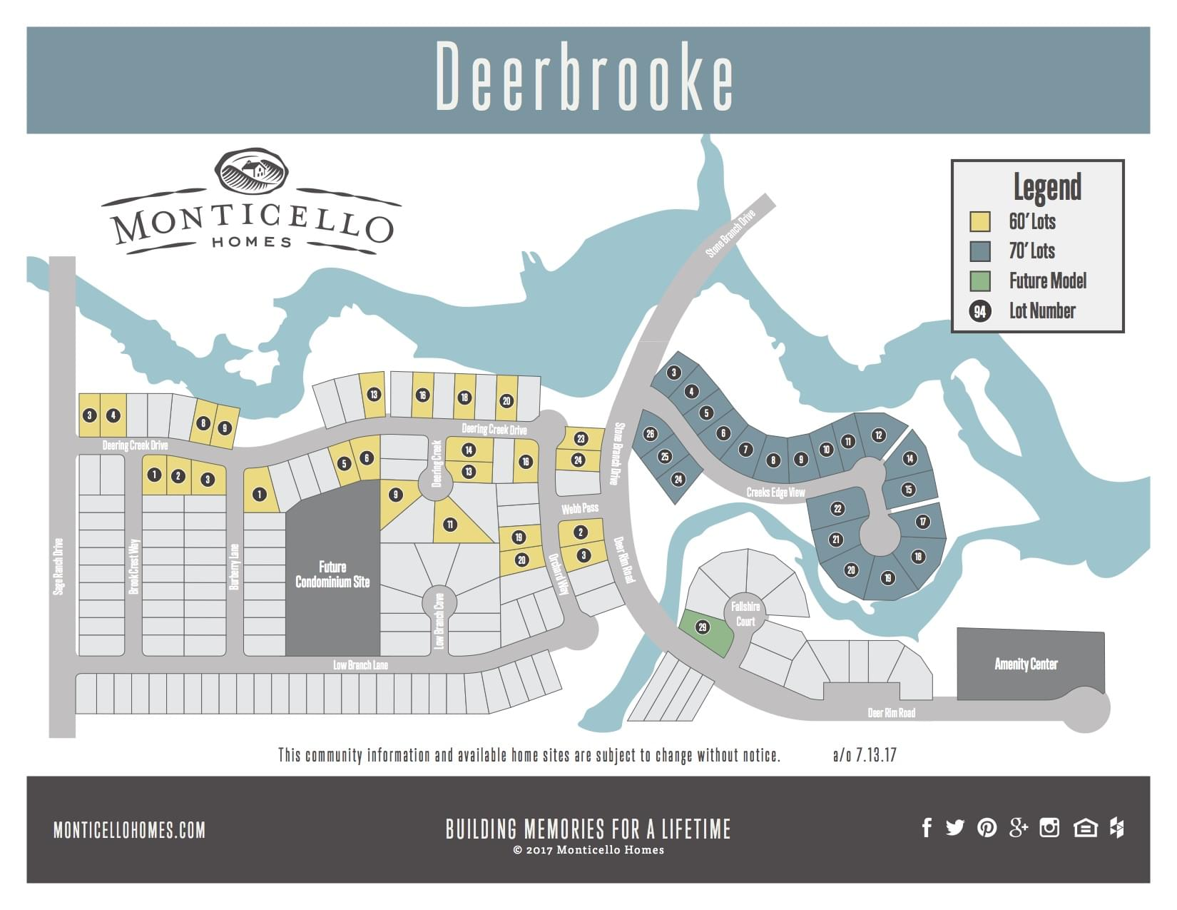 Leander New Home Community Plat Map