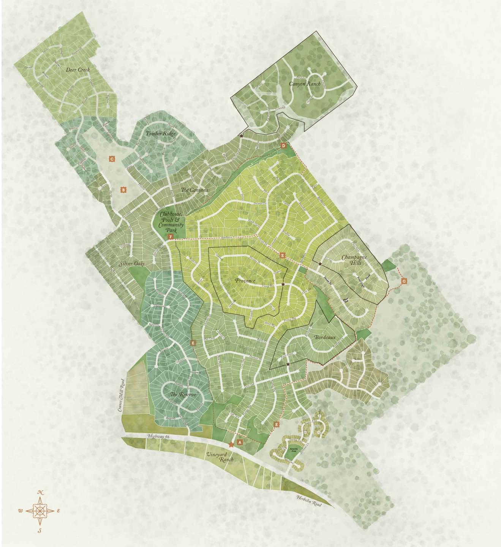 New Braunfels New Home Community Plat Map
